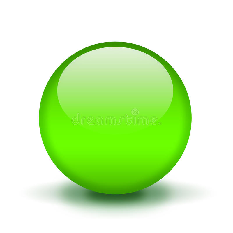 Free Green Glass Ball Royalty Free Stock Images - 19970859