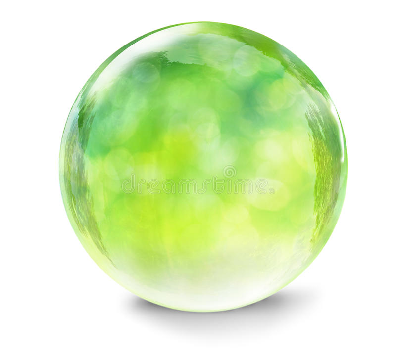 Free Green Glass Ball Stock Photography - 45163422