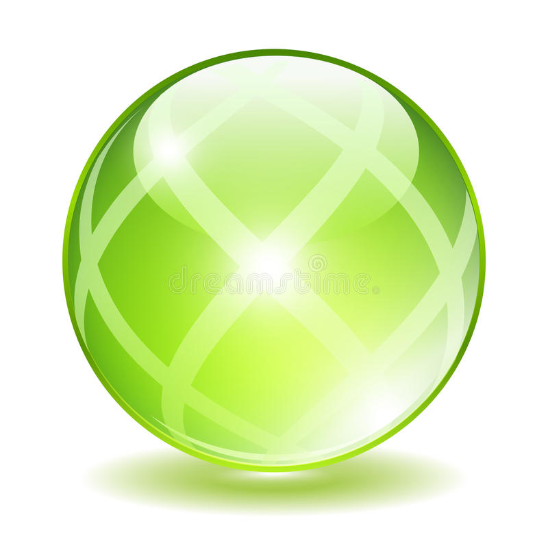 Free Green Glass Ball Royalty Free Stock Image - 59130016