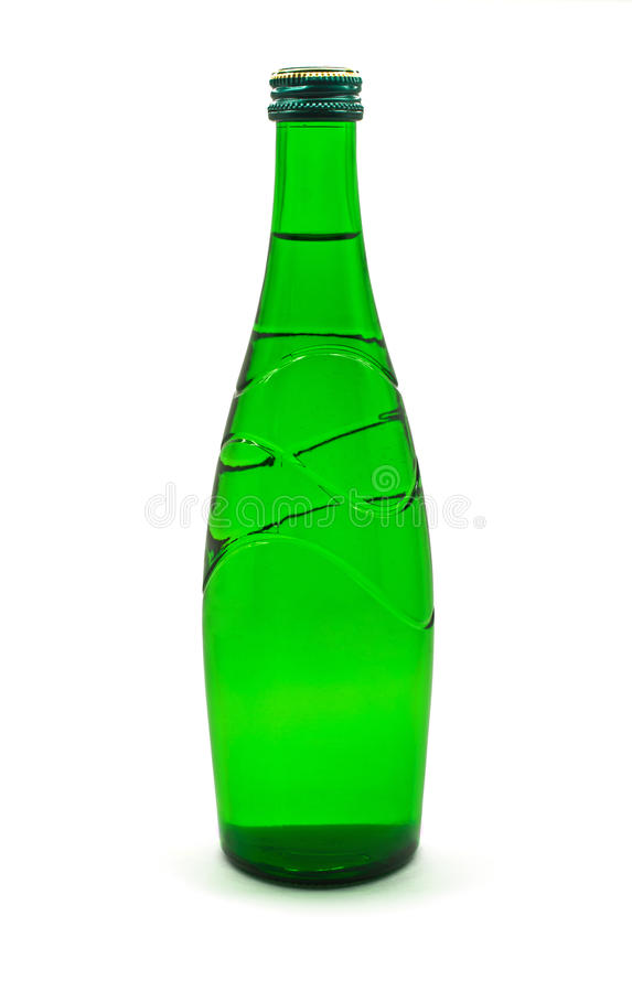 Green glass bottle royalty free stock photography