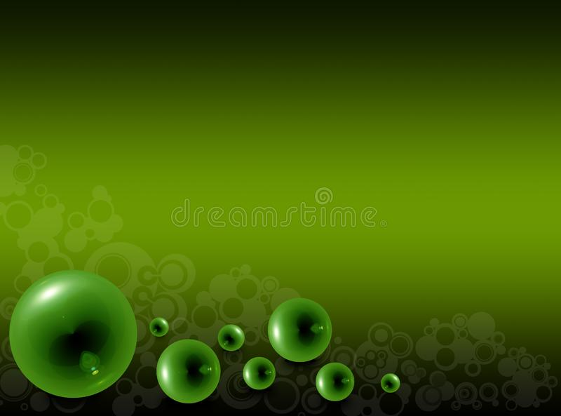 Green glass bubbles on a green background royalty free stock images
