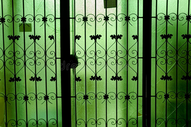 Download Green glass doors, stock photo. Image of close, closed - 1377970