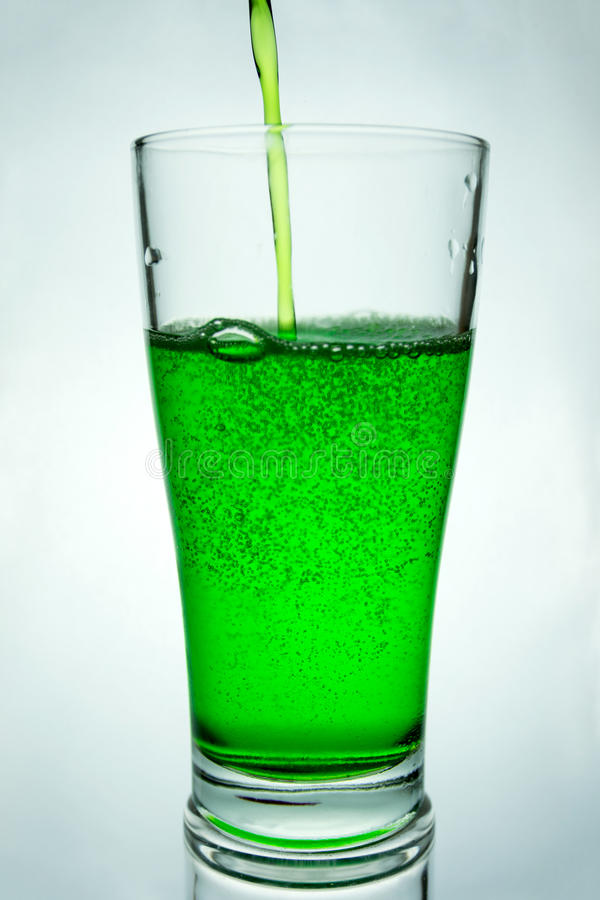 Green glass royalty free stock image