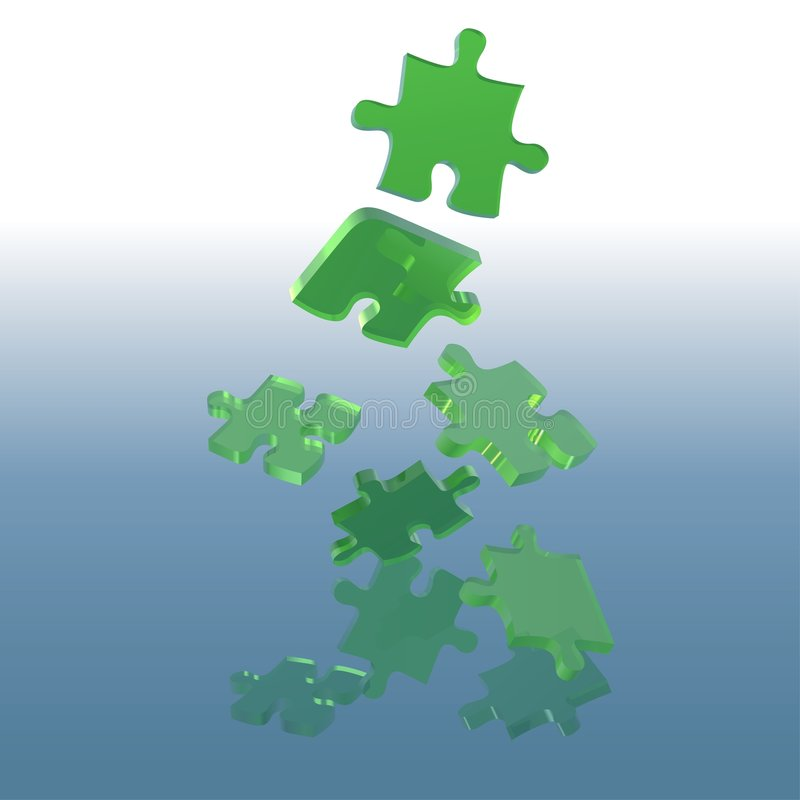 Free Green Glass Puzzle Stock Photography - 4587662