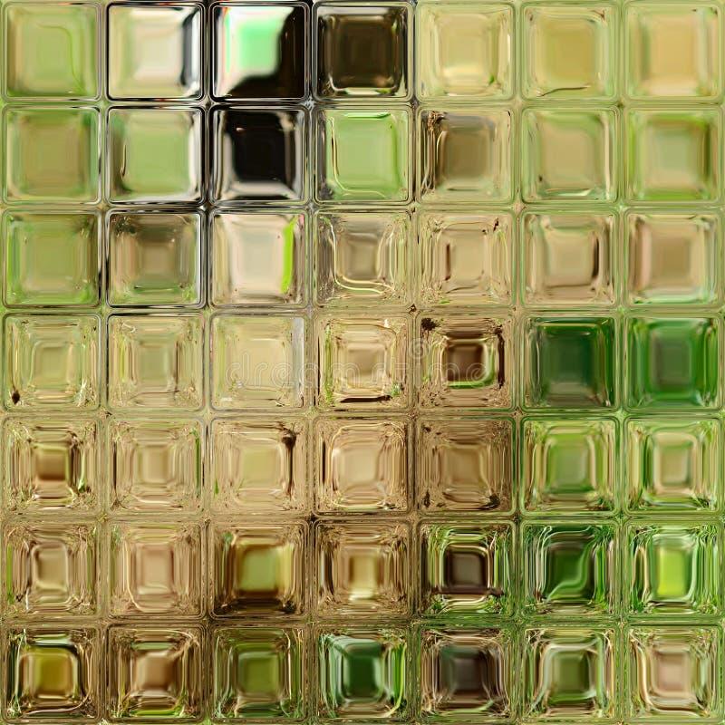 Green glass tiles royalty free illustration