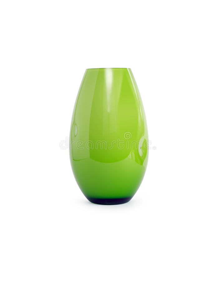 Green Glass Vase royalty free stock photo
