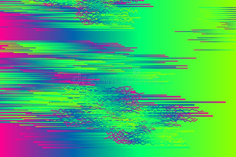 Green glitch background. Glitch. Retro pattern for cover design. Glitch background, glitch banner, digital noise stock illustration