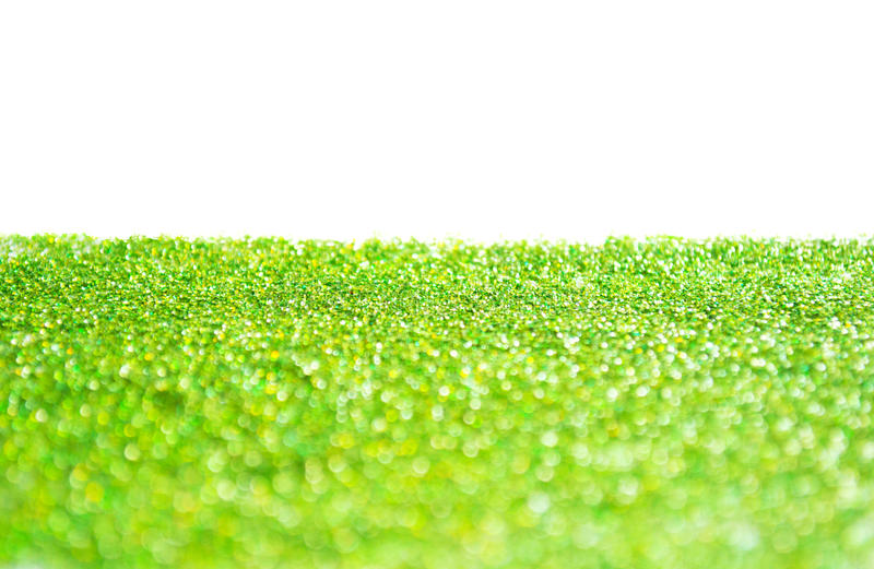 Green glitter background royalty free stock photography