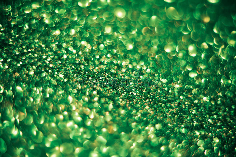 Green glitter bokeh background. With copy-space royalty free stock photo