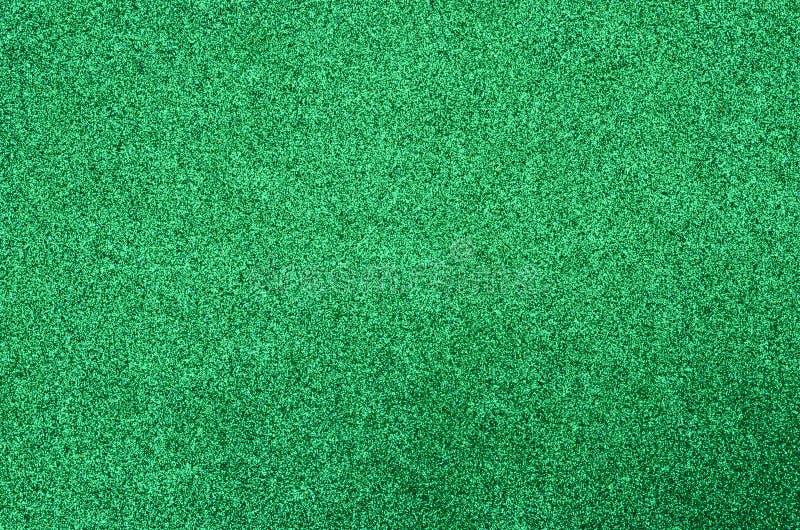 Green glitter foam sheet texture stock image