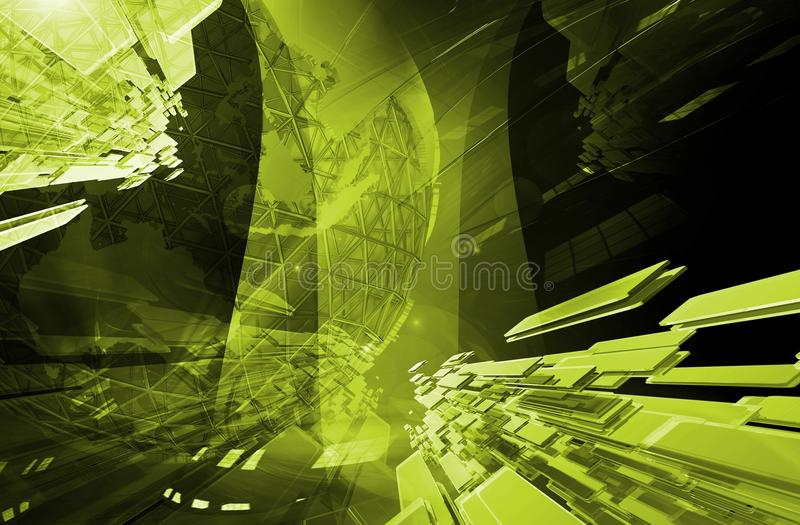 Green Global Structure royalty free illustration