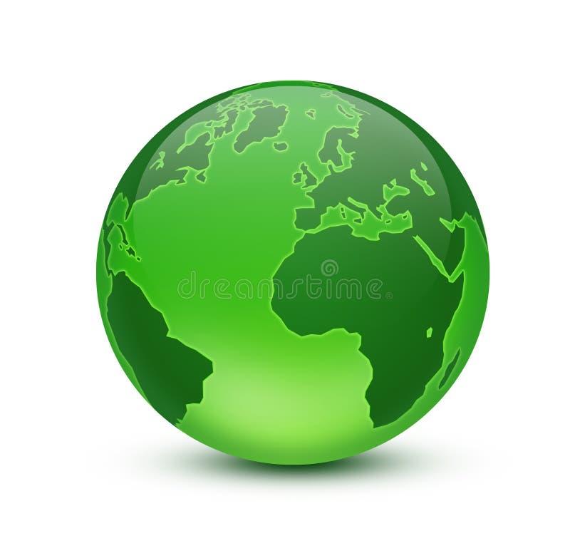 Green globe stock illustration