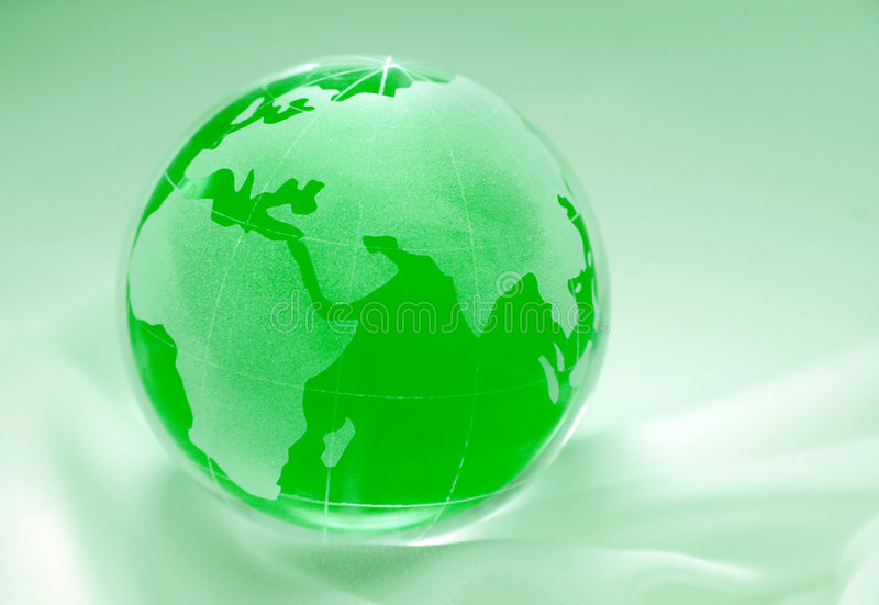 Green globe - europe, africa. Green globe showing europe, africa, asia and russia royalty free stock photo