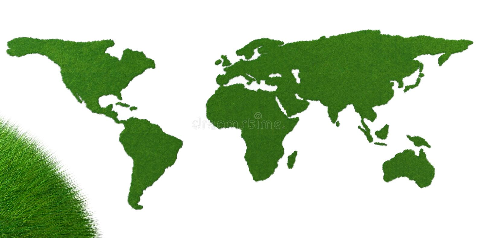 Green globe grass stock images