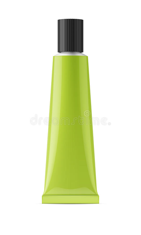 Free Green Glossy Metal Tube For Glue Royalty Free Stock Photos - 88914348
