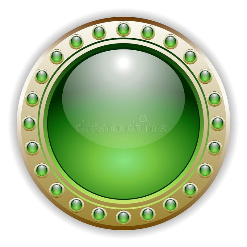 Green Glossy Vector Button Illustration stock image