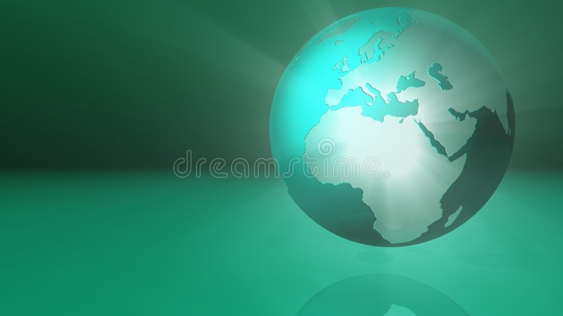 Green Glowing Globe Royalty Free Stock Photography