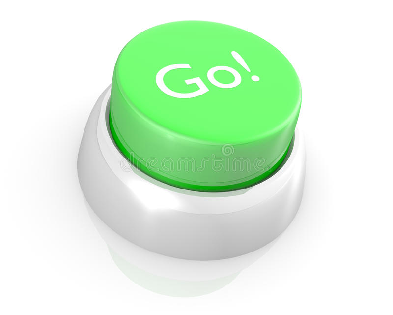 Go vector green button stock vector. Image of pushbutton