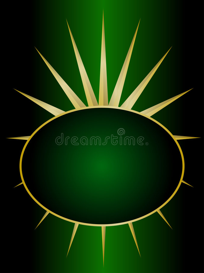 Green and Gold Abstract Background vector illustration