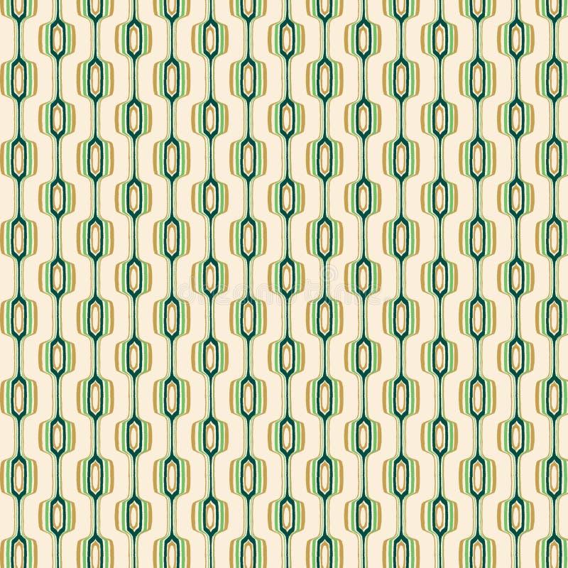 Download Green And Gold Retro Pattern Stock Illustration - Illustration: 4881486