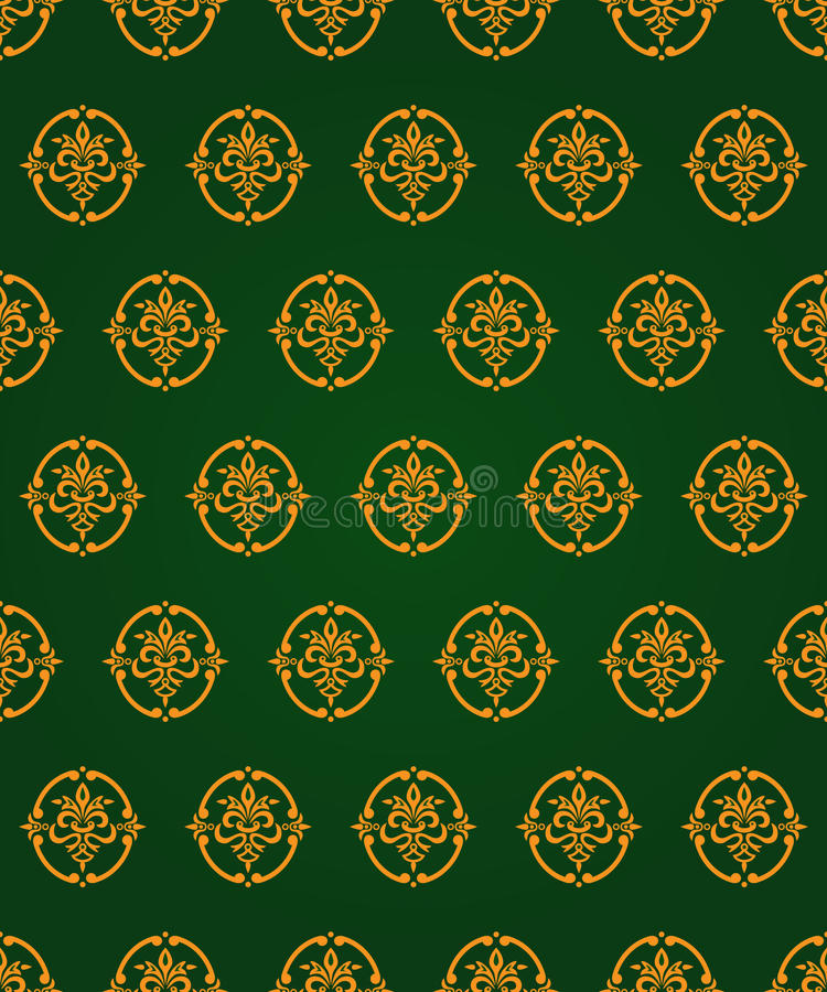 Download Green And Gold Vintage Pattern Stock Vector - Image: 17670790