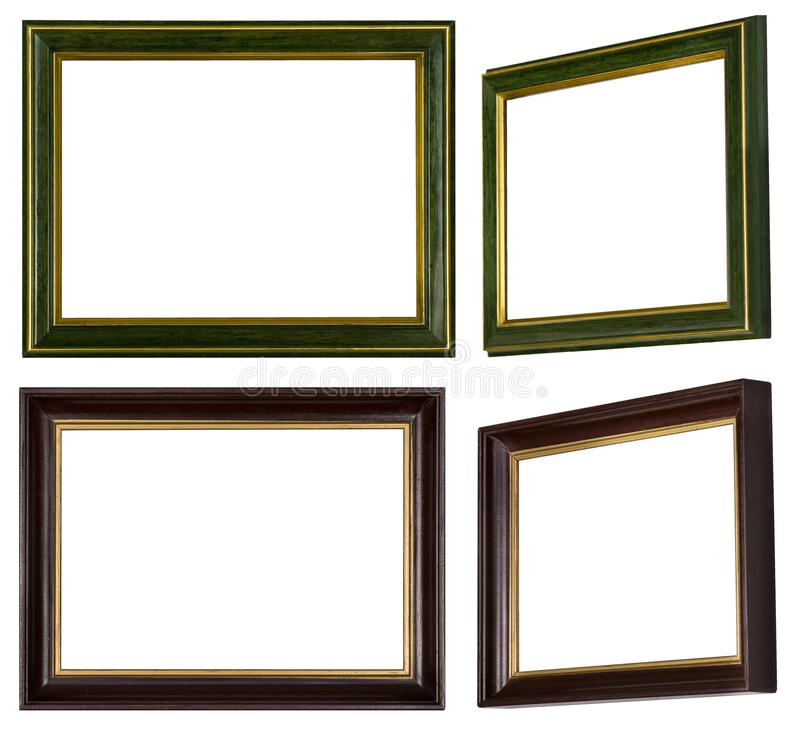 Green golden and brown golden picture frame stock photos