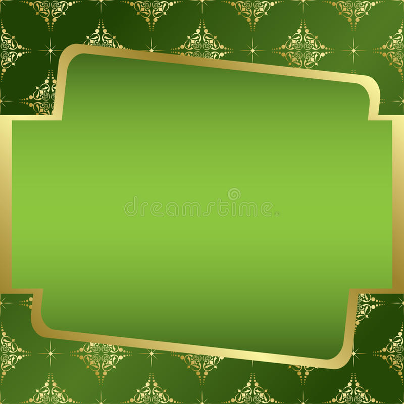 Green And Golden Frame - Vector Royalty Free Stock Photography