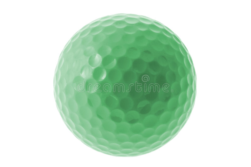 Green Golf Ball. On White Background royalty free stock image
