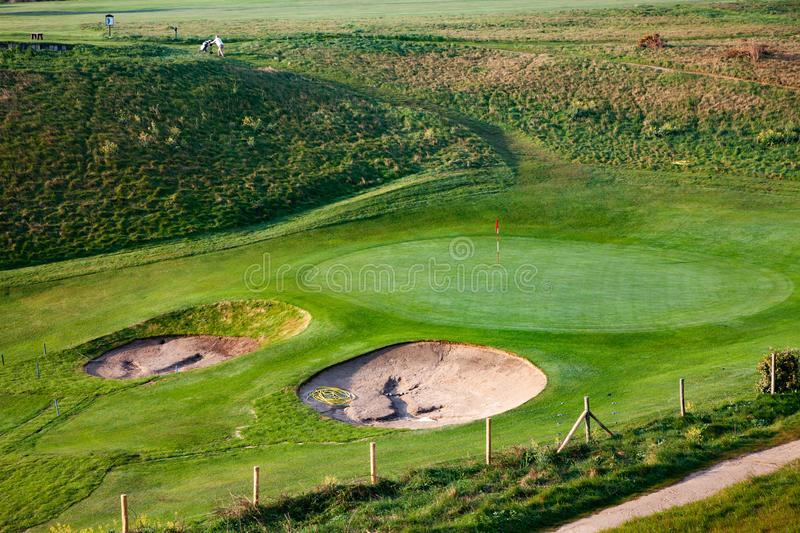 green golf course sports background royalty free stock photos