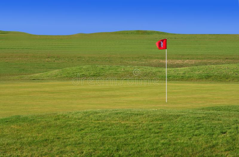 Green golf court royalty free stock photos