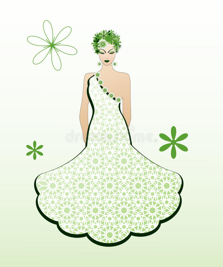 Green gown stock illustration