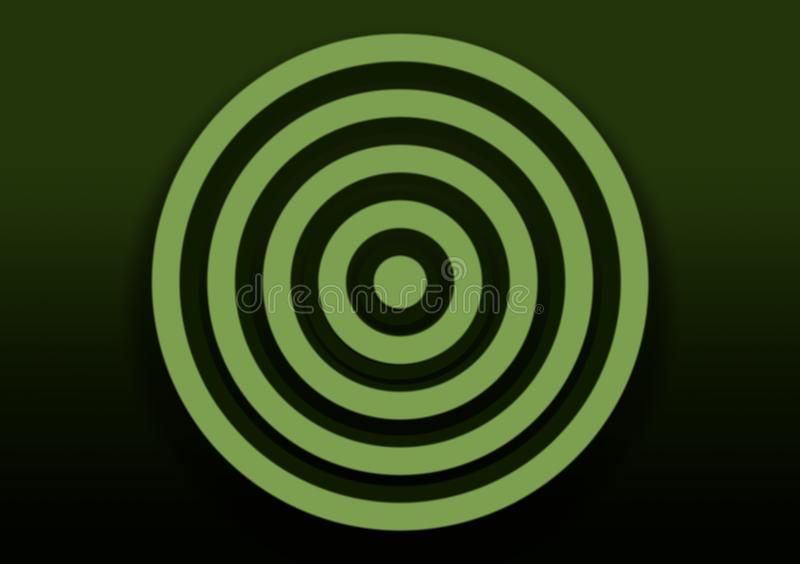 Green gradient background with spiral for wallpaper vector illustration