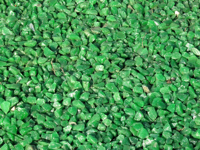 Green Granite Chippings Background stock images