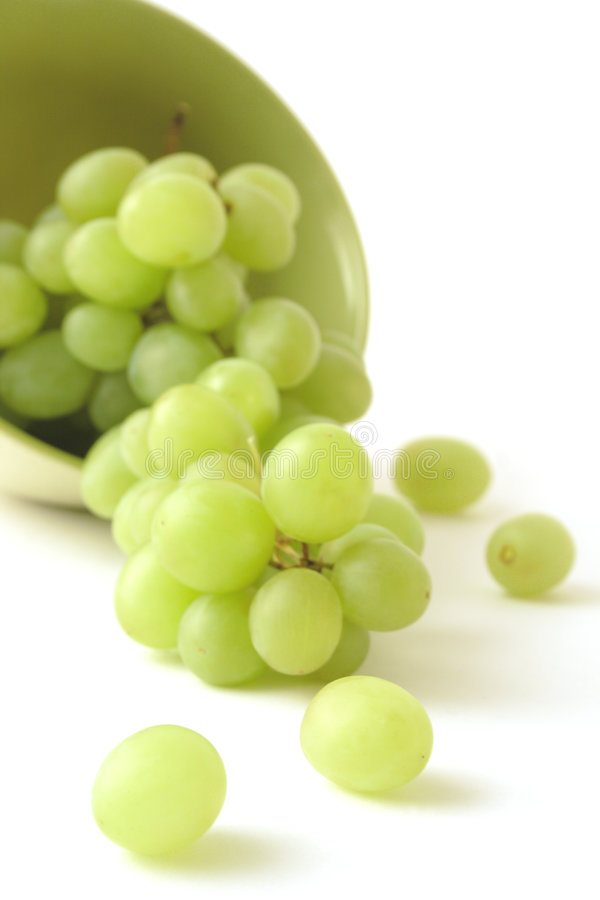 Green grape on a white background stock image