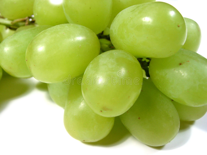Green grapes macro 1 royalty free stock photography