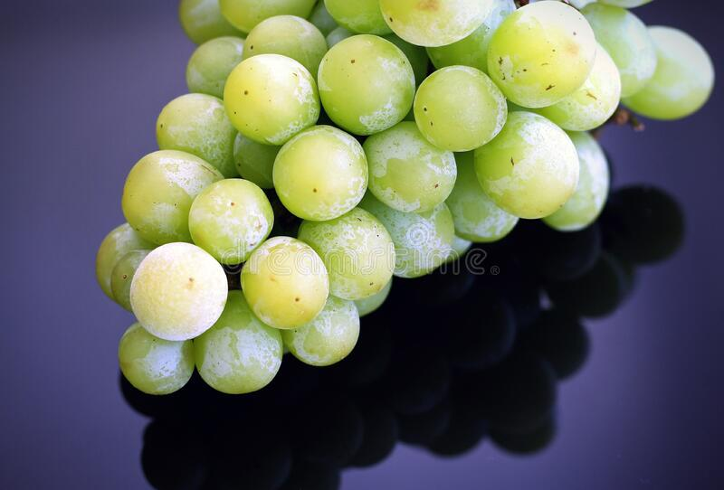 Green Grapes on Top of the Table stock image