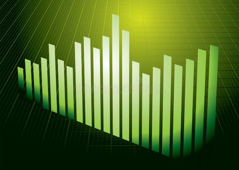 Green graph royalty free illustration
