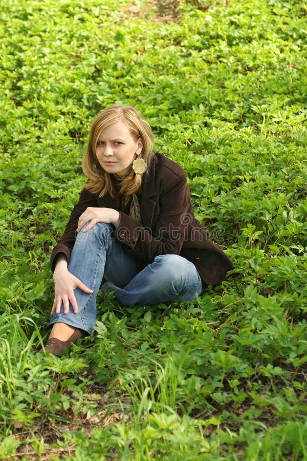 On green grass royalty free stock photography