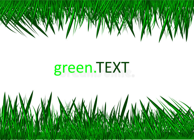 Download Green Grass Against A White Background. Stock Vector - Image: 13442211
