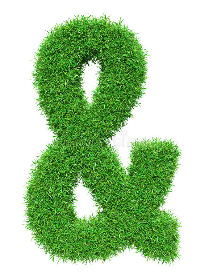 Green grass ampersand vector illustration