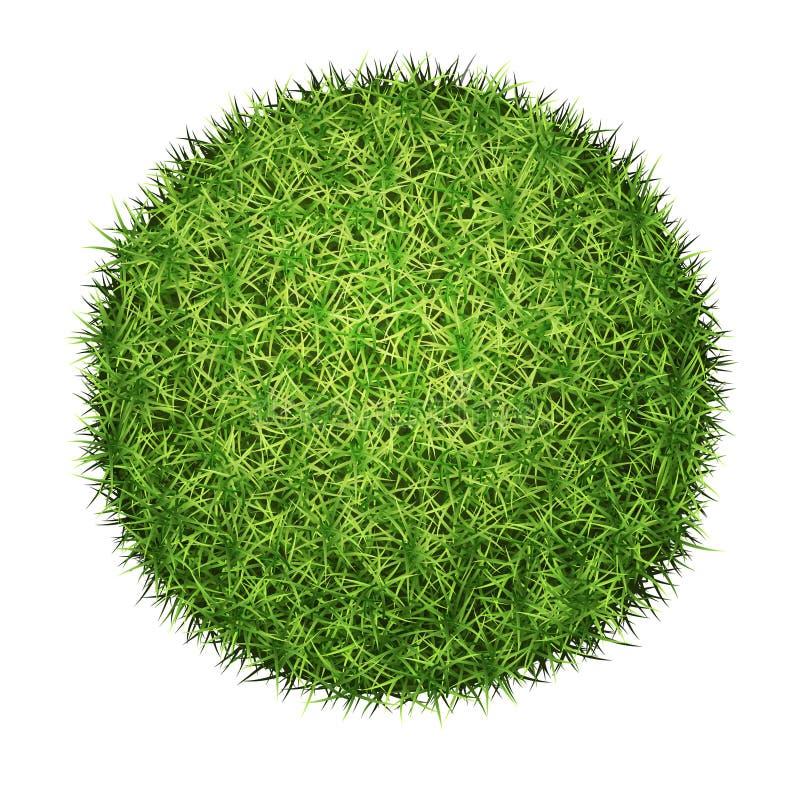Green grass ball vector illustration