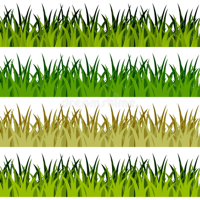 Green Grass Banners stock illustration