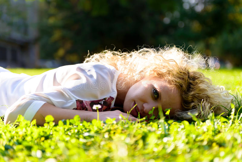 Download Green grass stock image. Image of up, glamour, face, close - 34475513