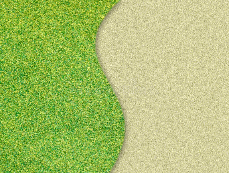 Download Green grass curve on sand stock illustration. Illustration of activity - 23030441
