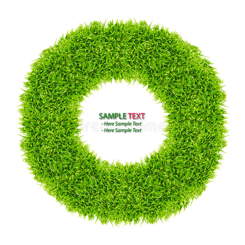Green Grass Donut Frame Isolated Stock Photos