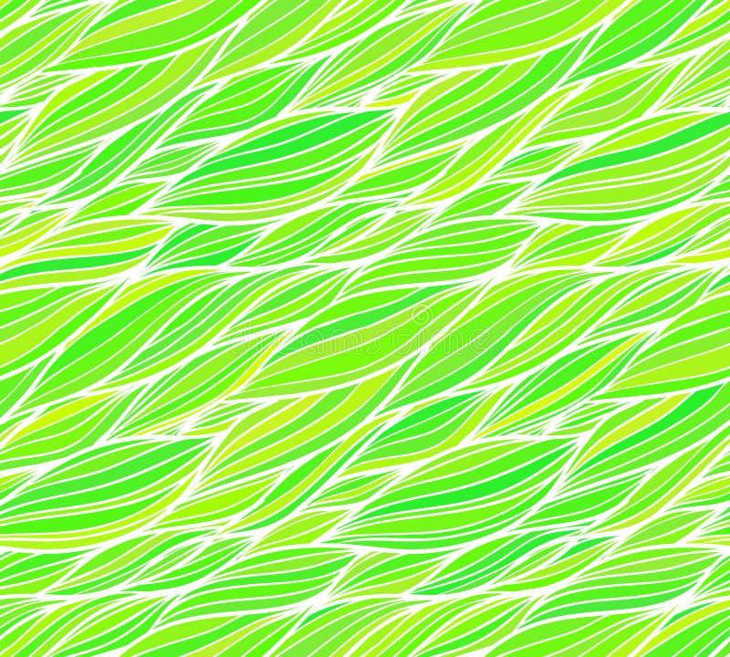 Green grass doodle hair seamless pattern. Green grass doodle hair vector seamless pattern royalty free illustration