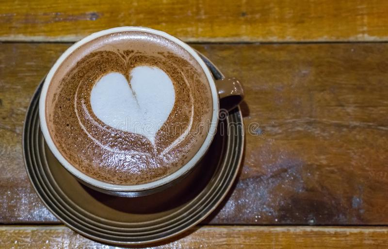 A cup of coffee with love stock photos