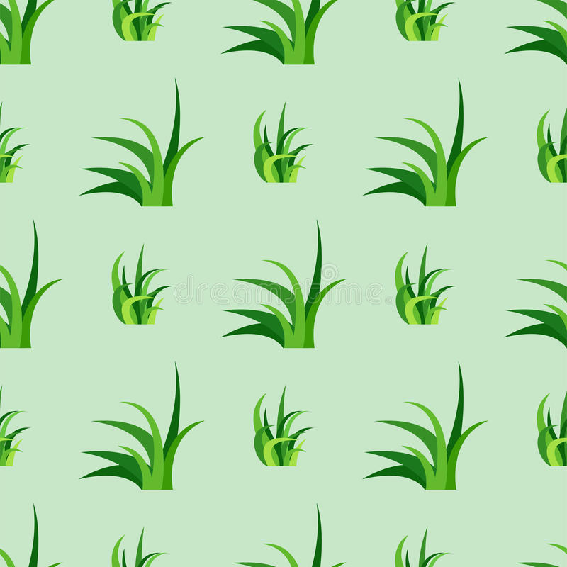 Green grass nature design seamless pattern vector illustration grow herb agriculture nature background vector illustration