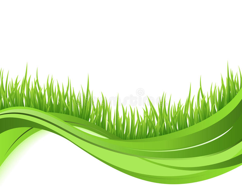 Green grass nature wave background stock illustration