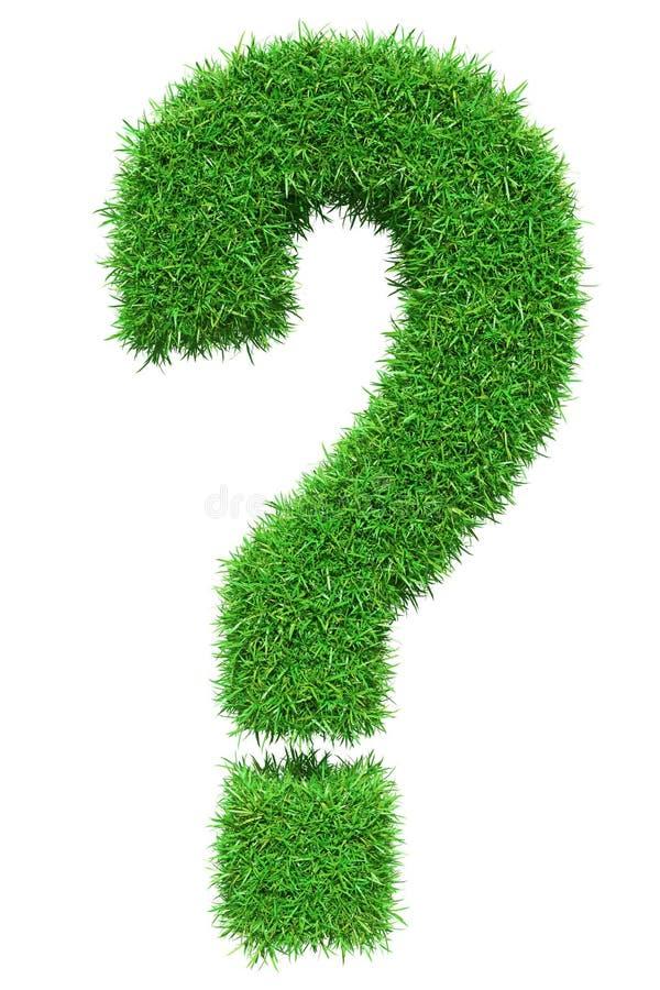 Green grass question mark royalty free illustration